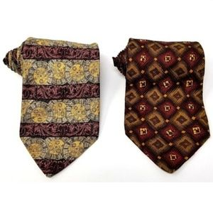 Nordstrom Accessories - Lot of 2 Robert Talbot mens silk ties